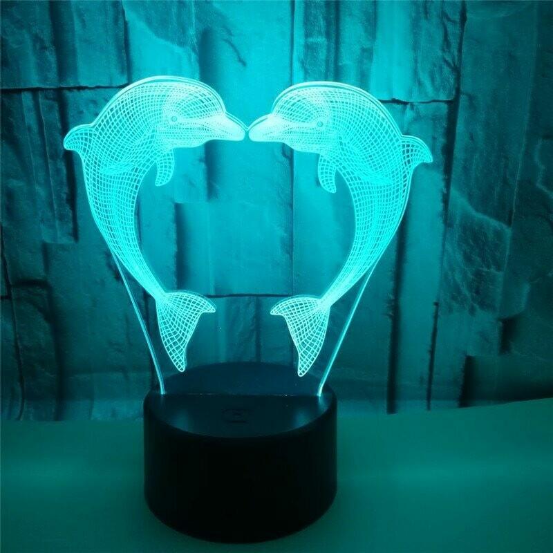 Dolphin - 3D Night Light Table Lamp