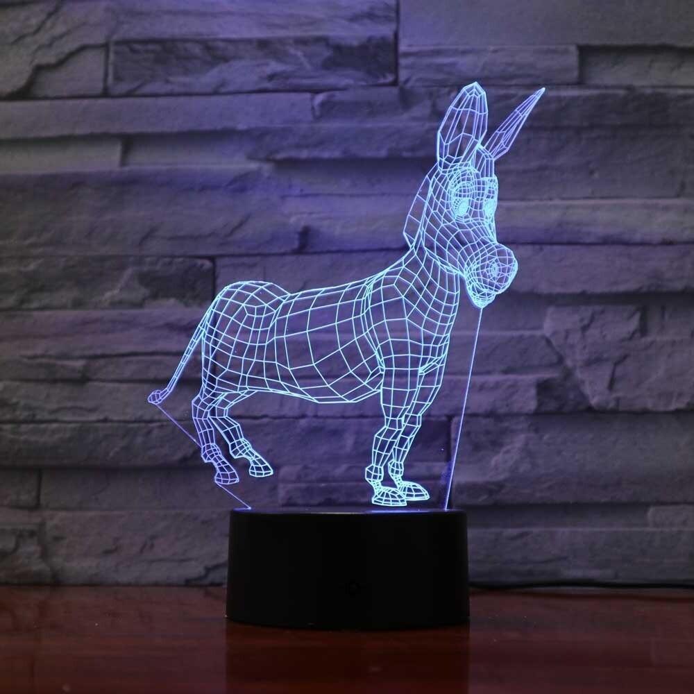 Donkey - 3D Night Light Table Lamp