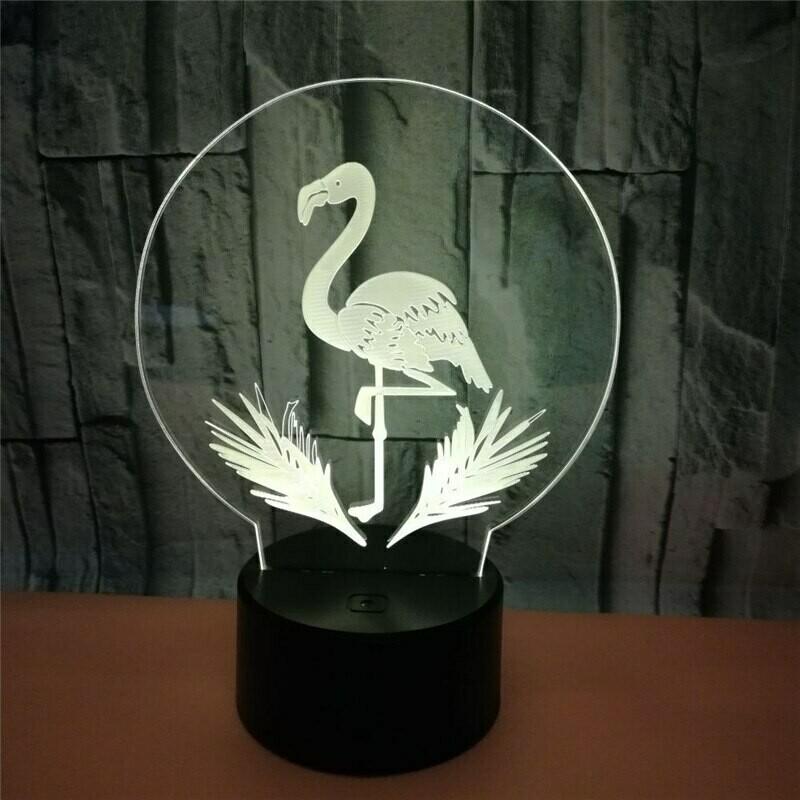 Flamingo - 3D Night Light Table Lamp