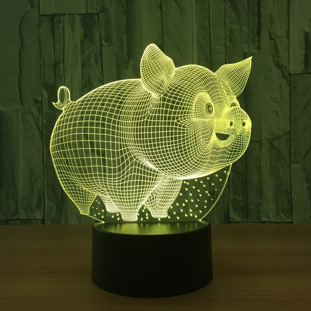 Little Pig - 3D Night Light Table Lamp