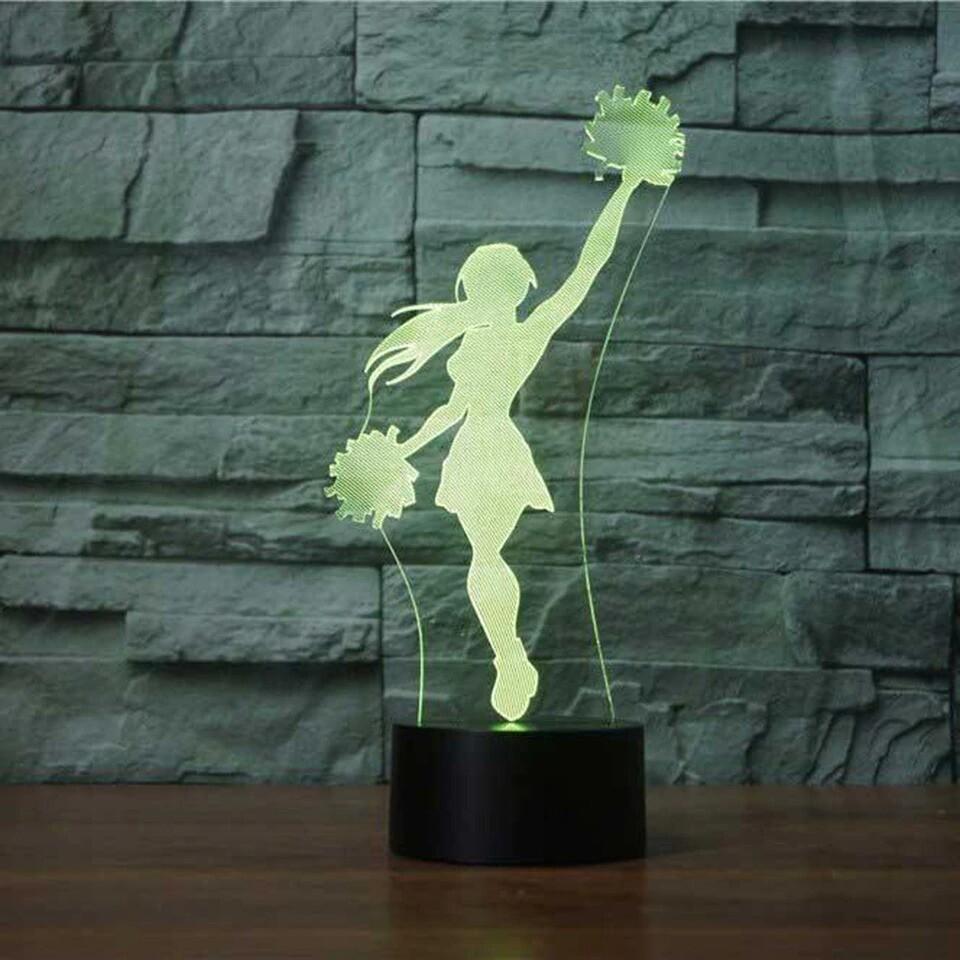 Cheerleader - 3D Night Light Table Lamp