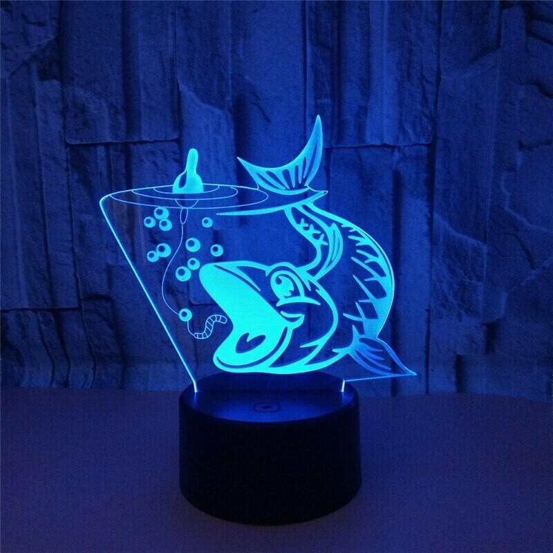 Fishing Carp - 3D Night Light Table Lamp