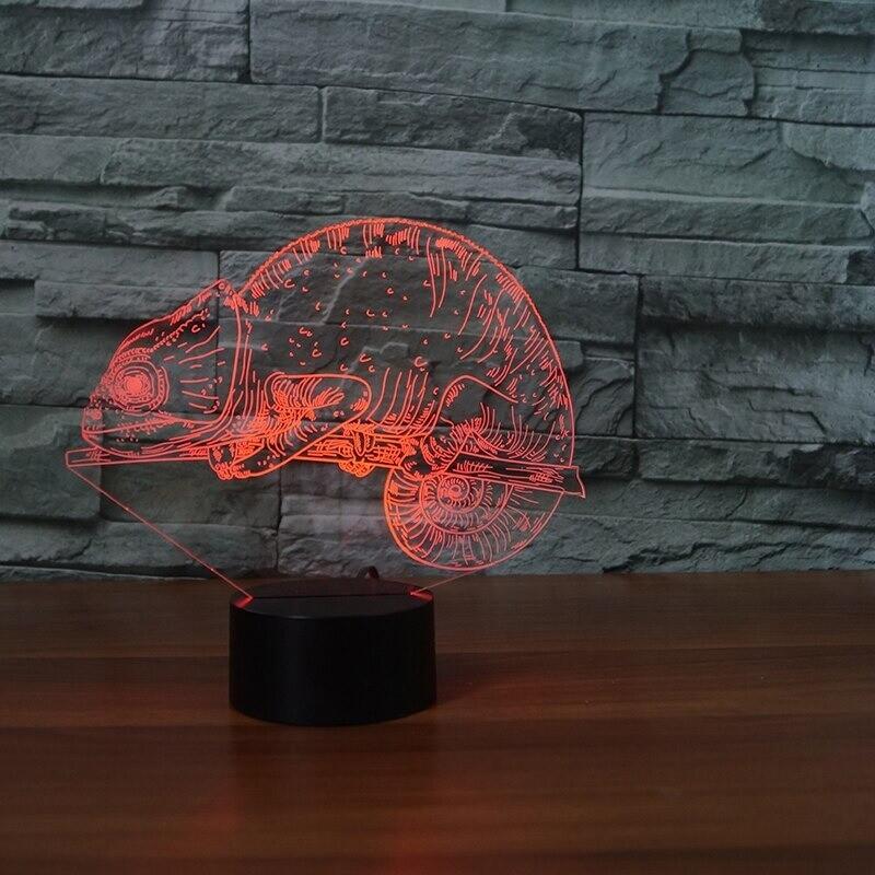 Lizard Chameleon - 3D Night Light Table Lamp