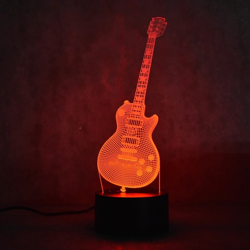 Electric Guitar - 3D Night Light Table Lamp