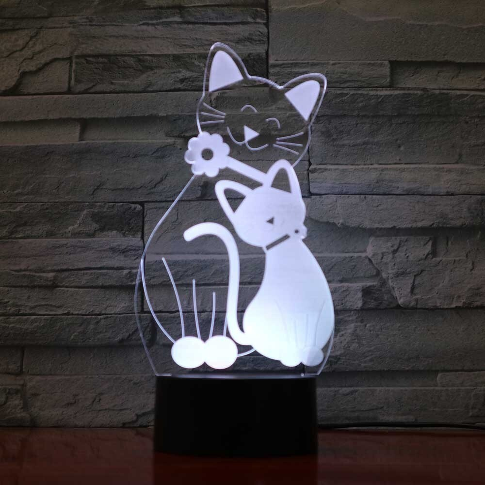 Novelty Cat Modelling - 3D Night Light Table Lamp