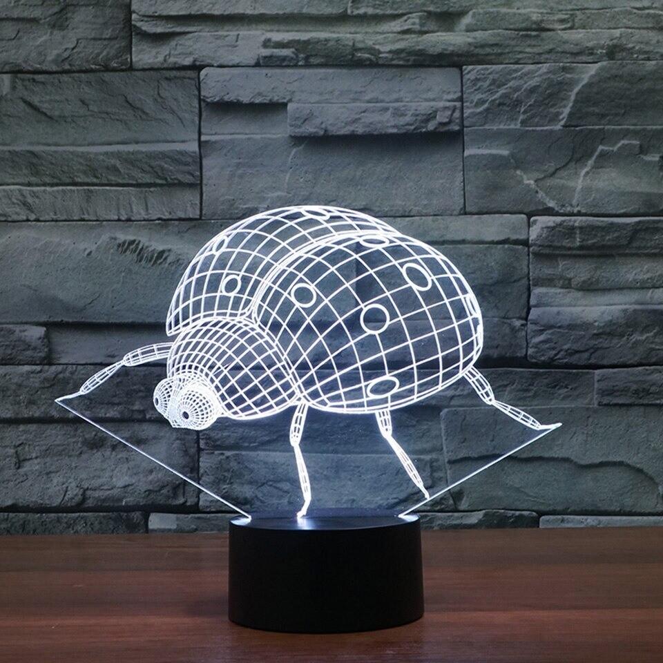 Lady Beetle - 3D Night Light Table Lamp