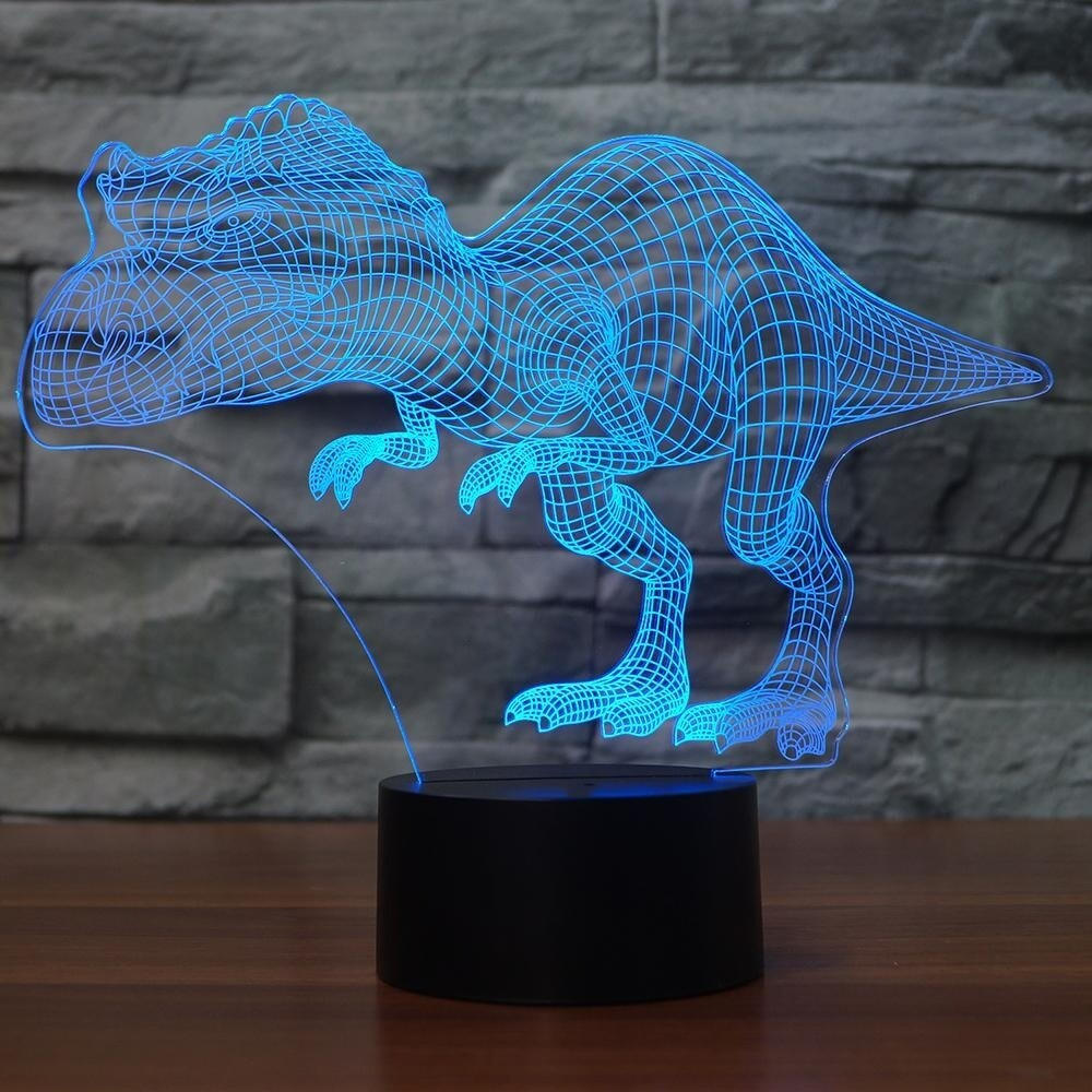 Novelty Colossal Dinosaur - 3D Night Light Table Lamp