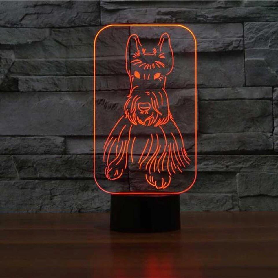 Novelty Scottish Terrier Shape - 3D Night Light Table Lamp