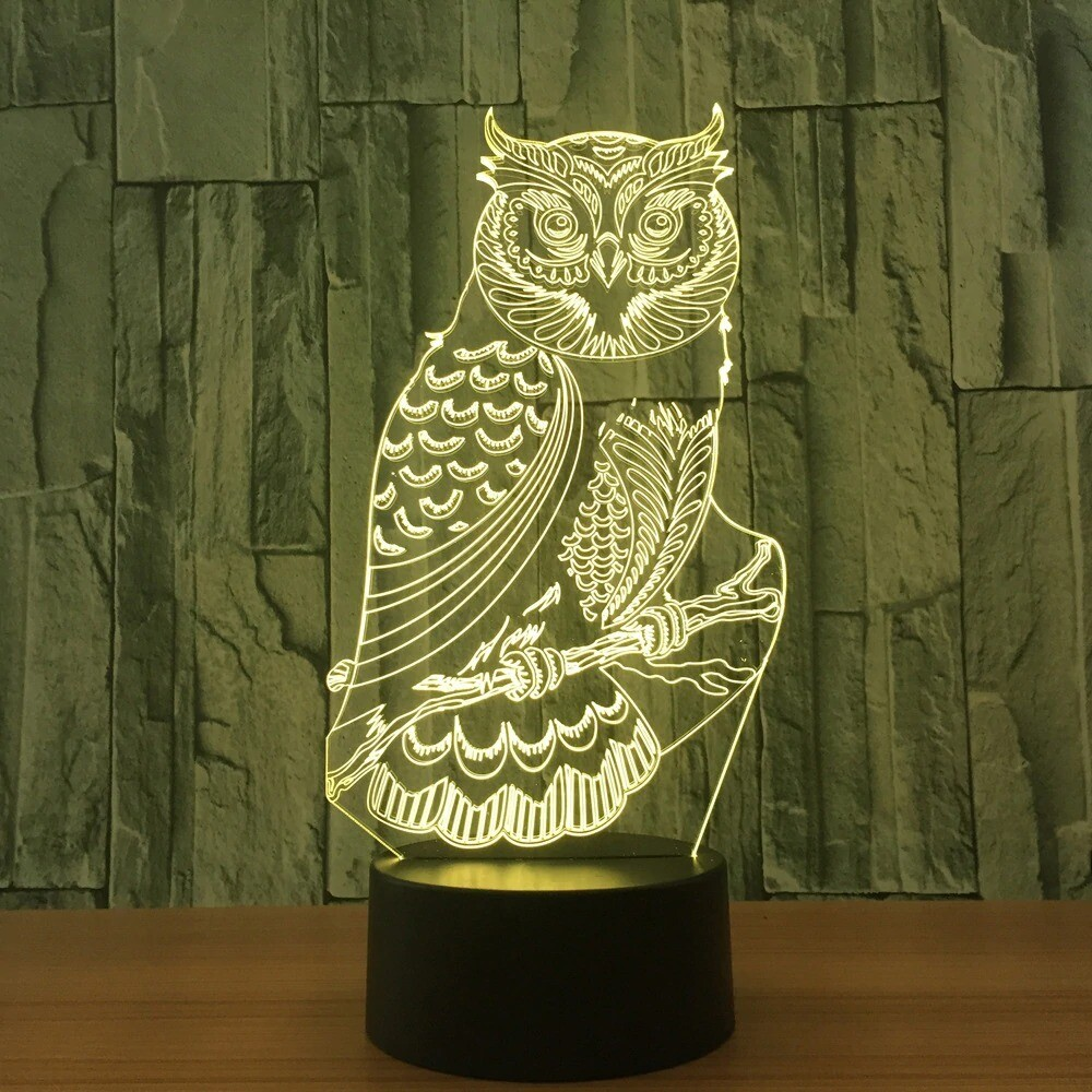Owl - 3D Night Light Table Lamp