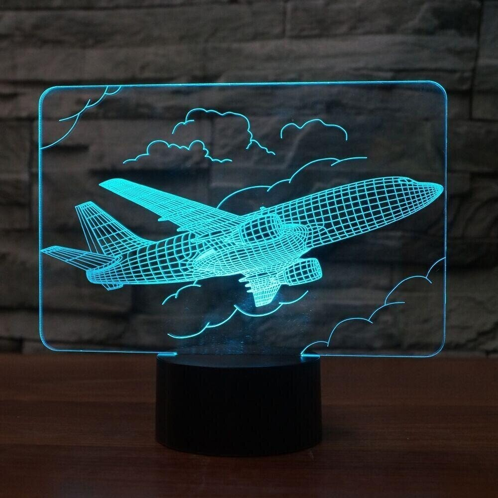 Aviation Aircraft - 3D Night Light Table Lamp