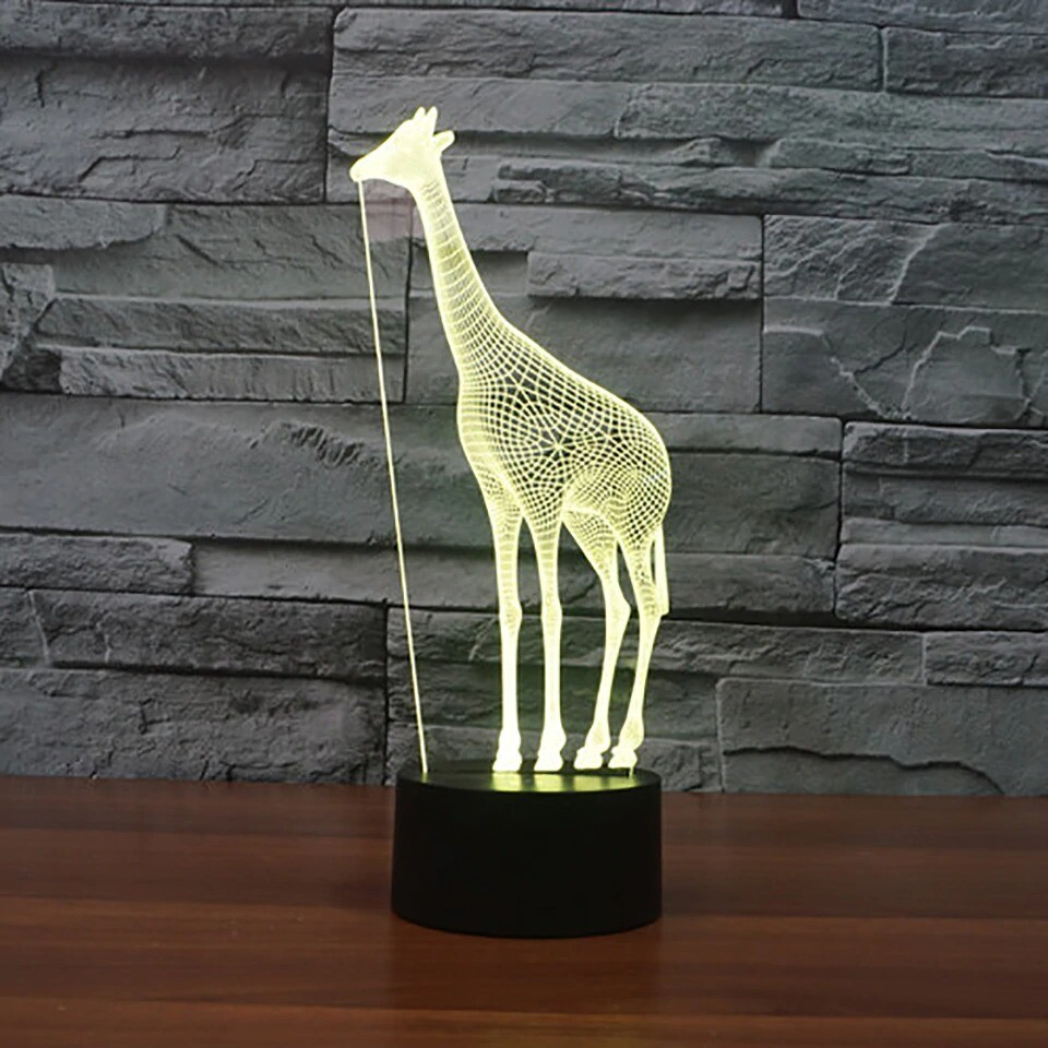 Novelty Giraffe - 3D Night Light Table Lamp