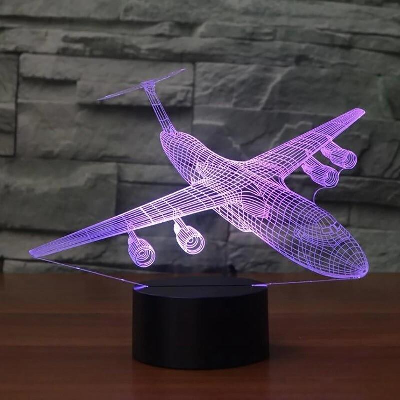 Aircraft - 3D Night Light Table Lamp