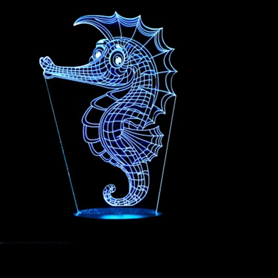 Sea Horse - 3D Night Light Table Lamp