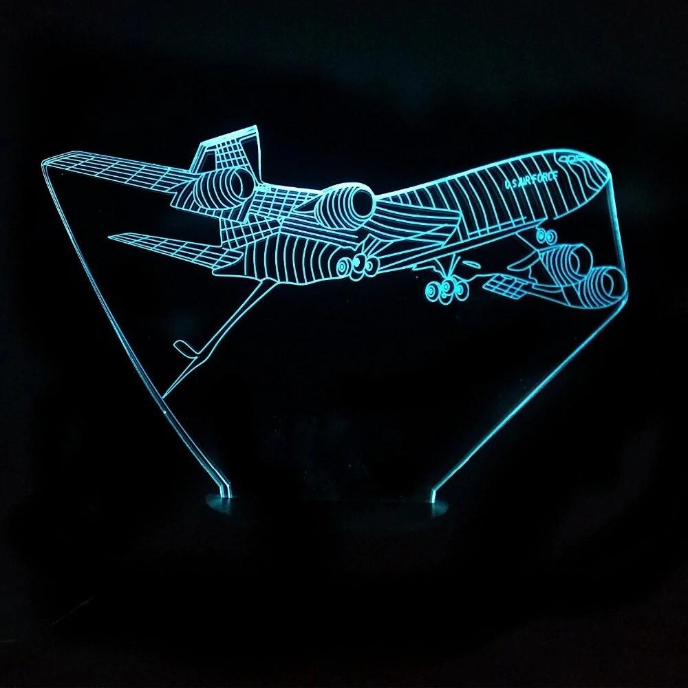 Acrylic Aviation Aircraft - 3D Night Light Table Lamp
