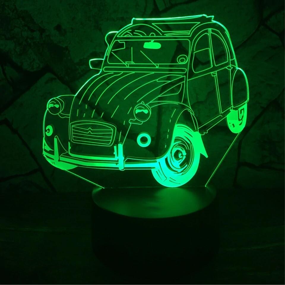 Beetle Car - 3D Night Light Table Lamp