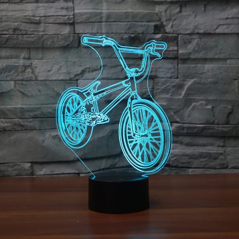 Bicycle - 3D Night Light Table Lamp