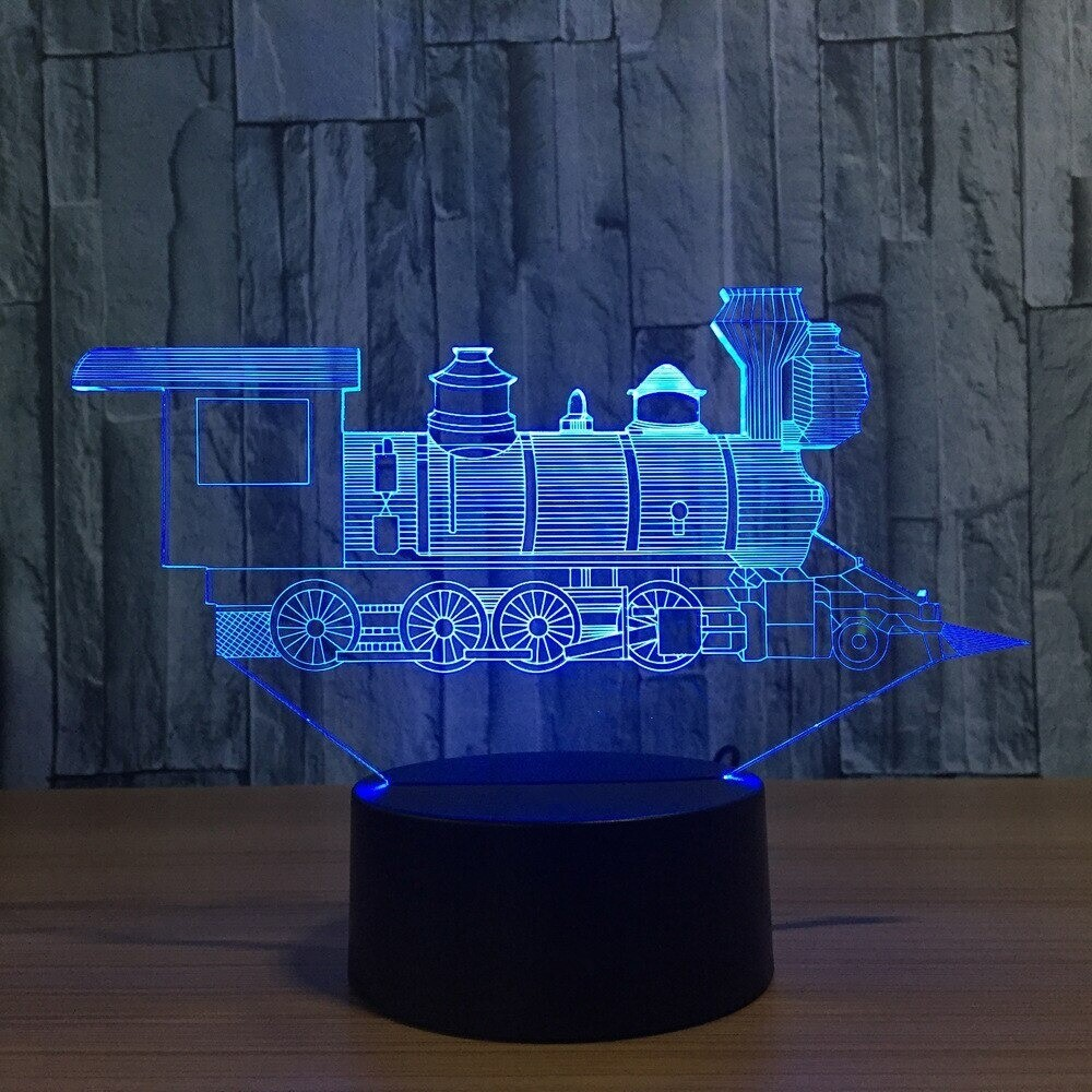 Cool Little Train - 3D Night Light Table Lamp