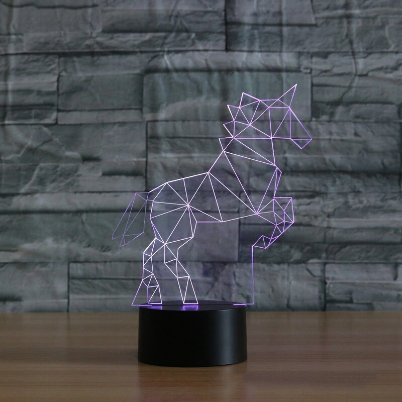 Unicorn Table Lamp - 3D Night Light Table Lamp