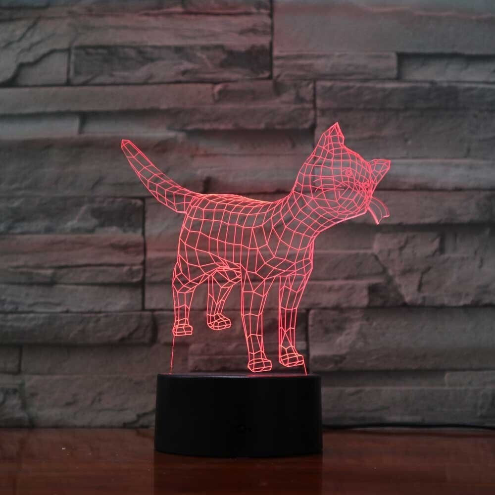 Visual Cat - 3D Night Light Table Lamp