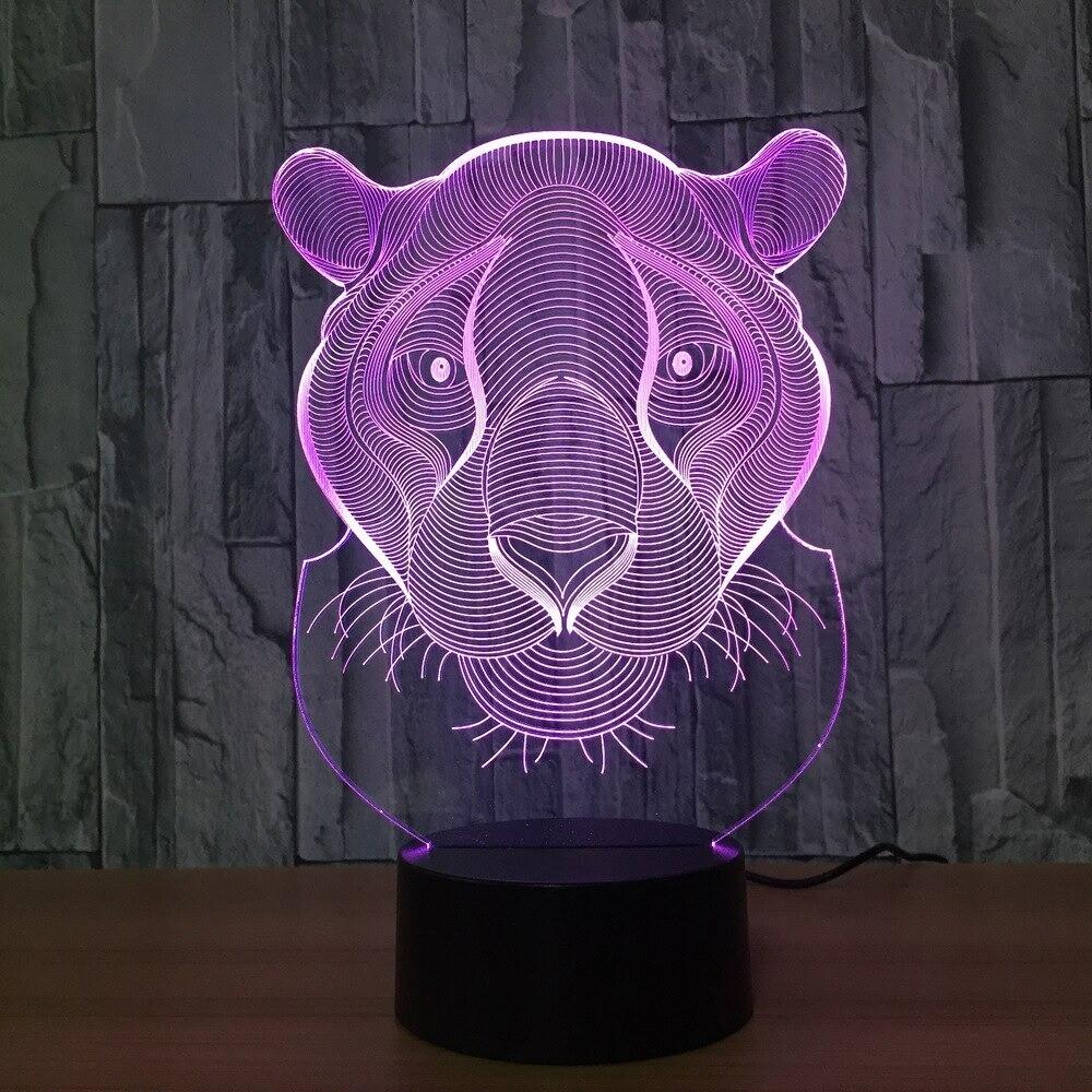 Tiger Lion - 3D Night Light Table Lamp