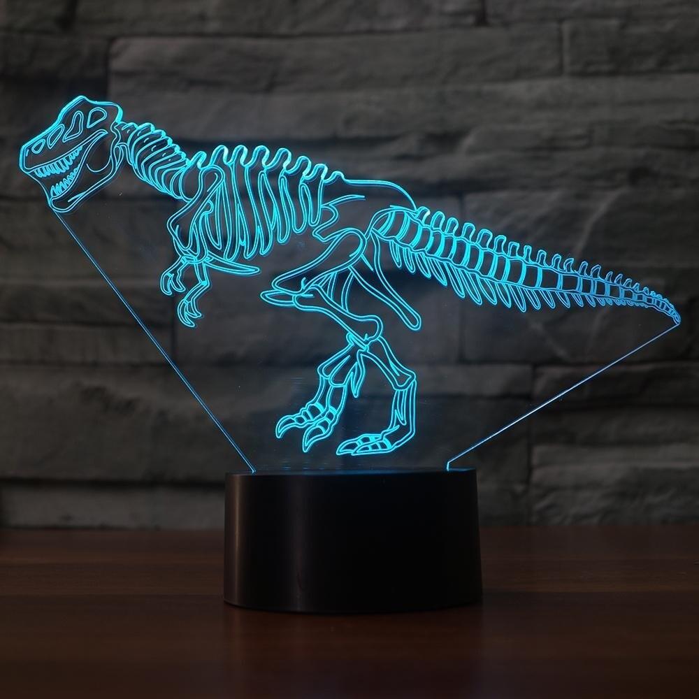 Visual Dinosaur Skeletons - 3D Night Light Table Lamp