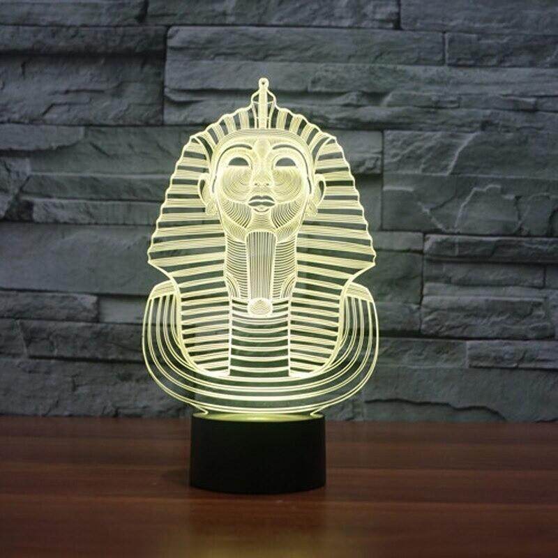 Egyptian Sphinx Pharaoh - 3D Night Light Table Lamp