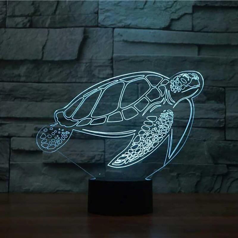 Sea Turtle Animal - 3D Night Light Table Lamp