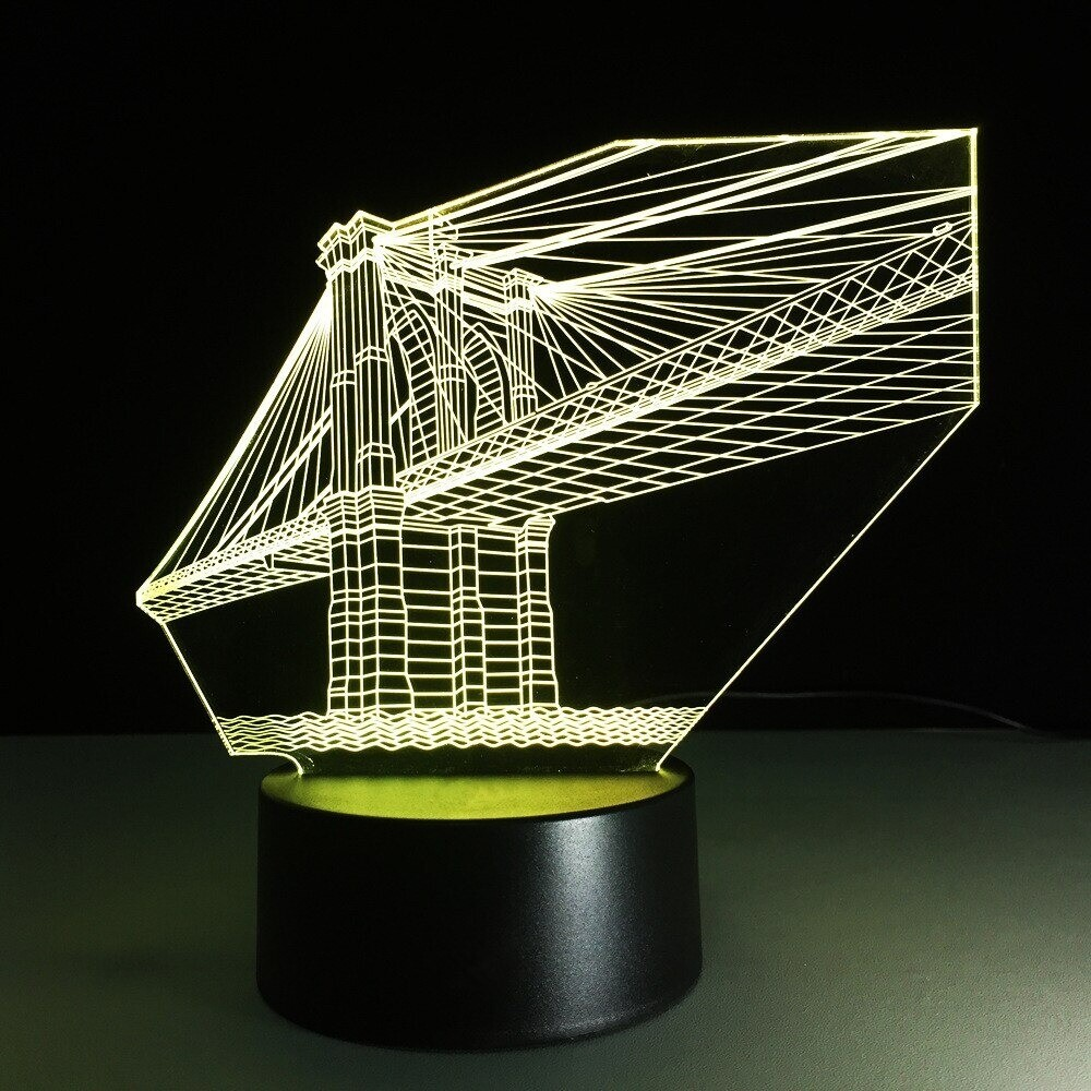 Brooklyn Bridge - 3D Night Light Table Lamp