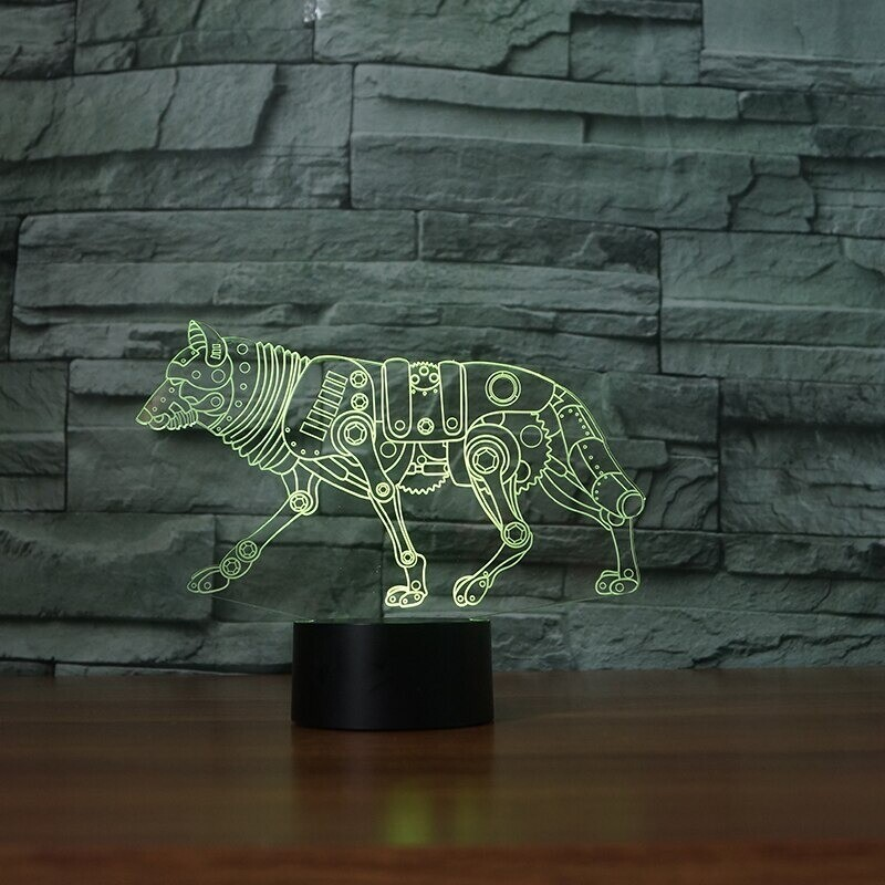 Wolf - 3D Night Light Table Lamp