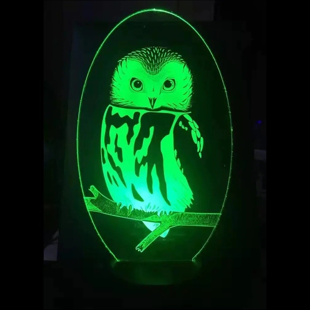 Visual Owl Modelling - 3D Night Light Table Lamp