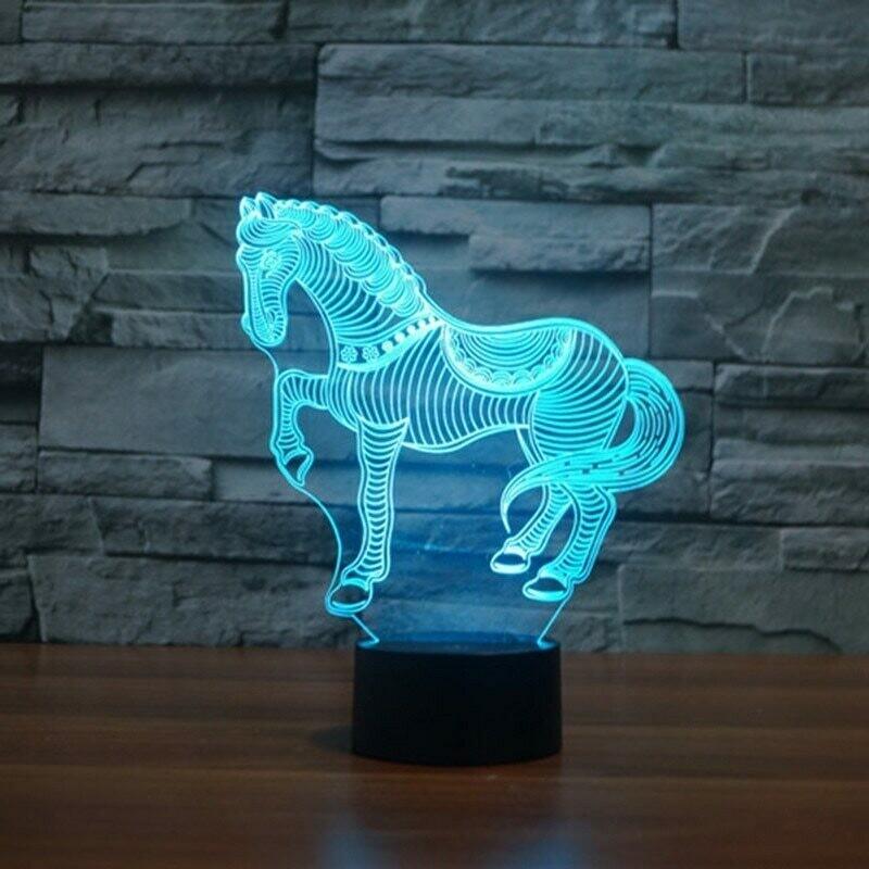 Zebra Horse - 3D Night Light Table Lamp