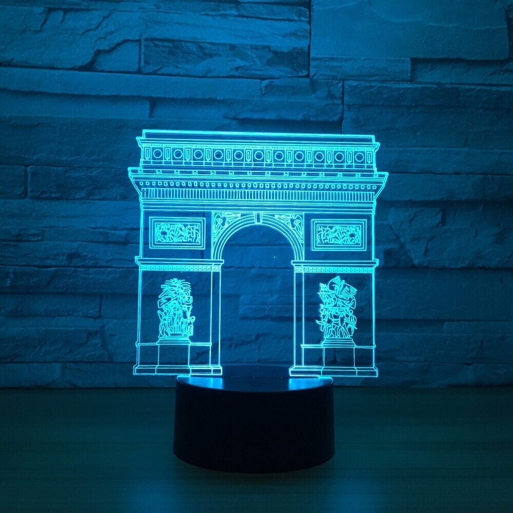 France Arc de Triomphe Gate - 3D Night Light Table Lamp