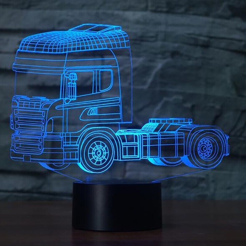 Heavy Truck - 3D Night Light Table Lamp