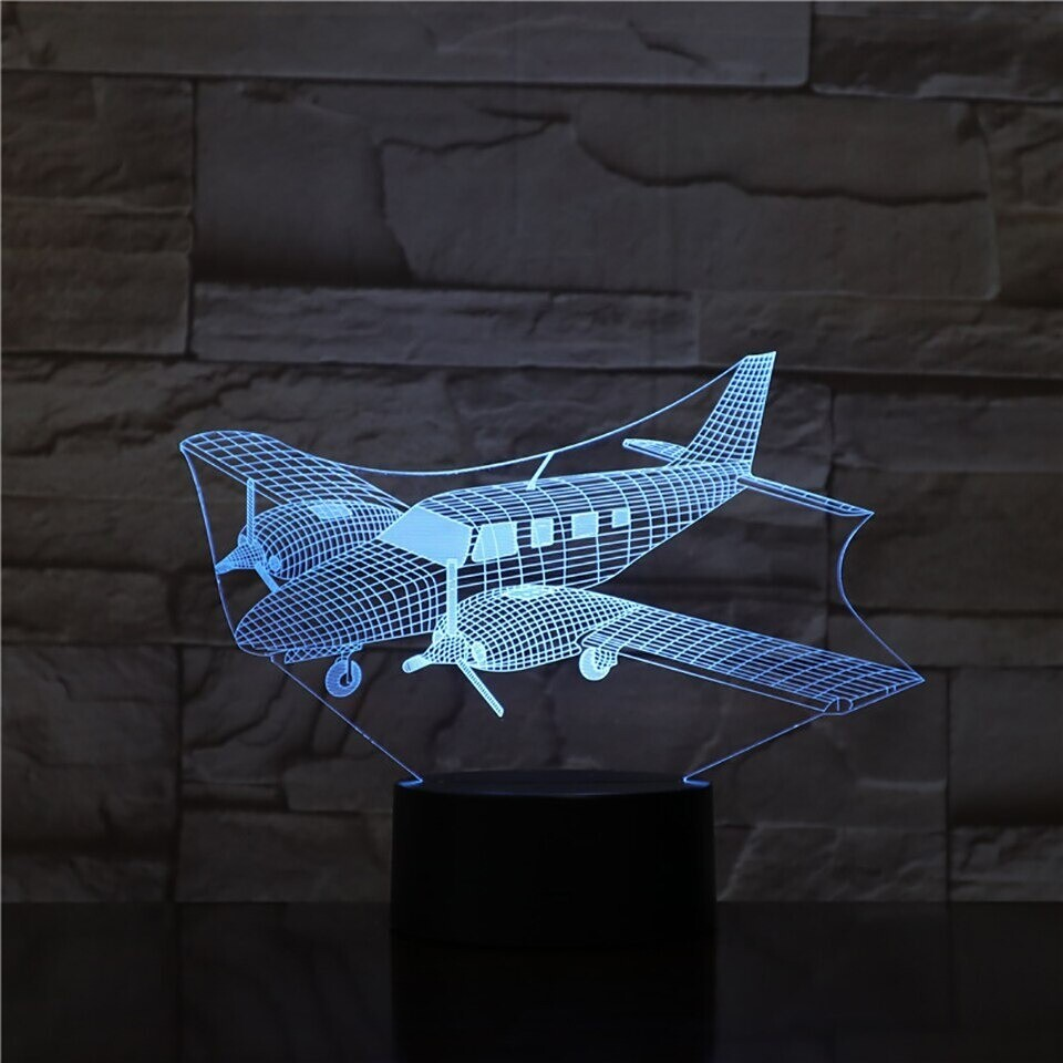 Helicopter - 3D Night Light Table Lamp