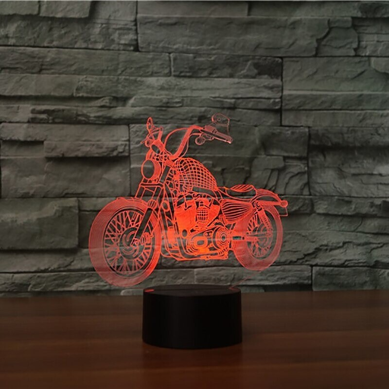 Cross-Country Motorcycle 2 - 3D Night Light Table Lamp