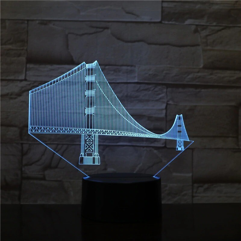 Golden Gate Bridge - 3D Night Light Table Lamp