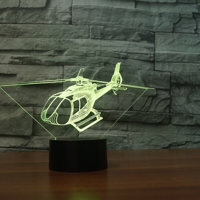 Helicopt - 3D Night Light Table Lamp