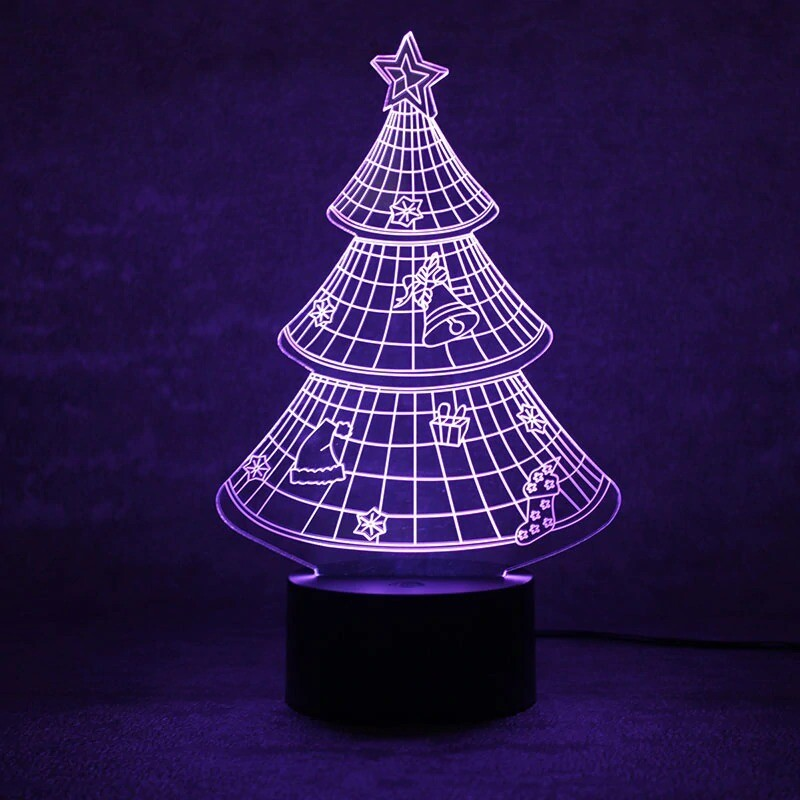 Christmas Tree - 3D Night Light Table Lamp