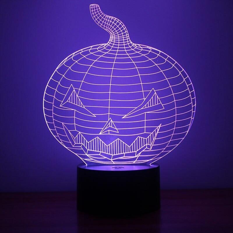 Creative Halloween Pumpkin - 3D Night Light Table Lamp
