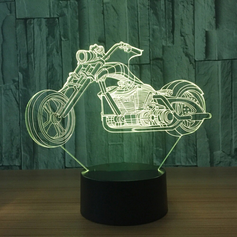 Motorcycle 2 - 3D Night Light Table Lamp