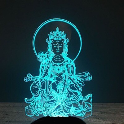 Solemnly Buddha - 3D Night Light Table Lamp