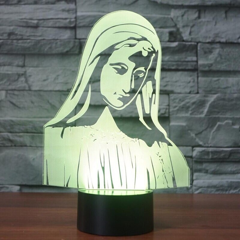 The Virgin Mary 1 - 3D Night Light Table Lamp