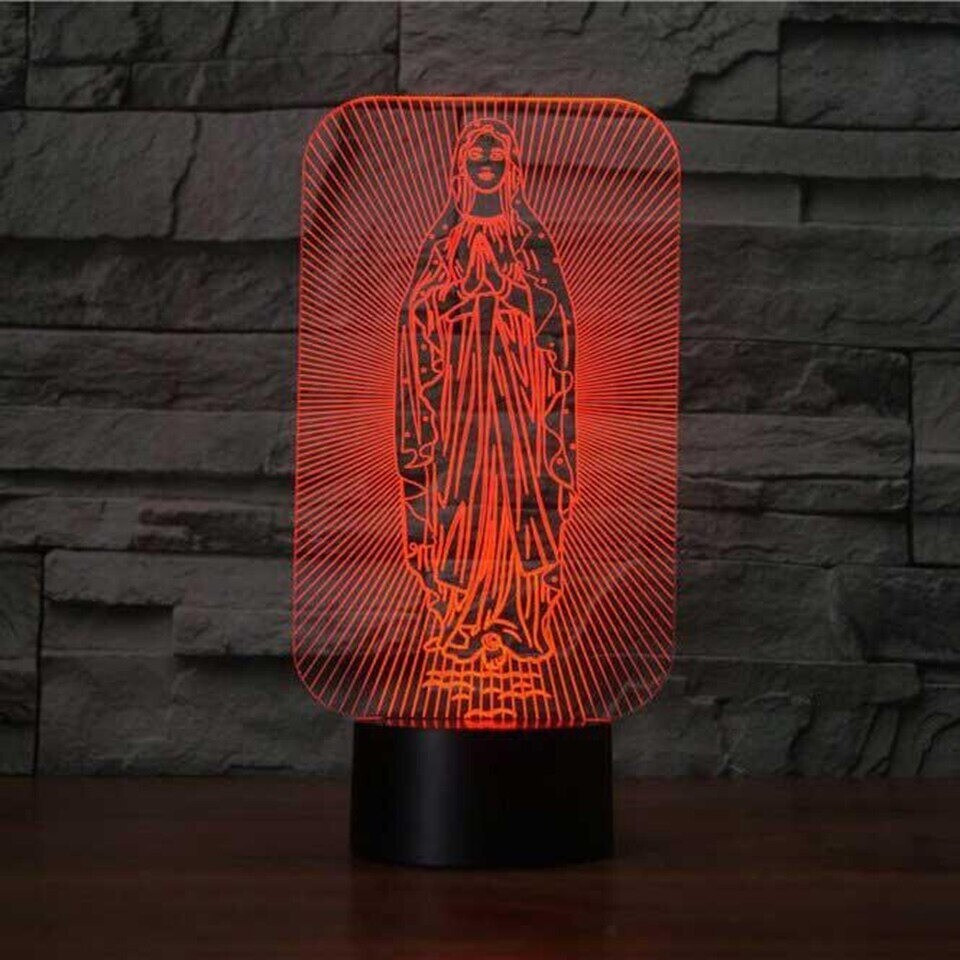 Virgin Mary - 3D Night Light Table Lamp