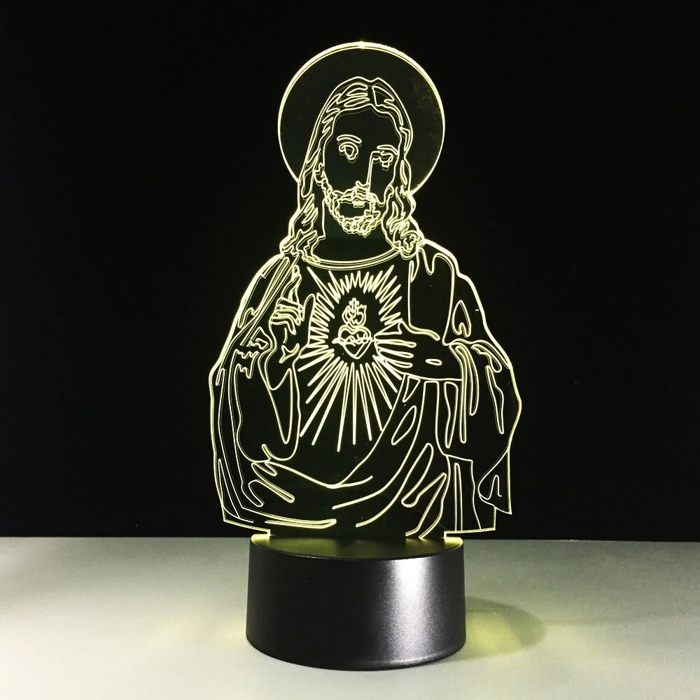 Vision Jesus Christ - 3D Night Light Table Lamp
