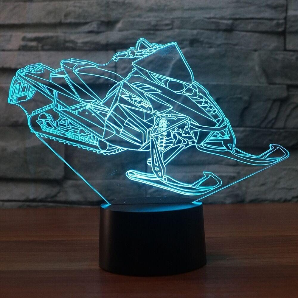 Ski Snowplane - 3D Night Light Table Lamp