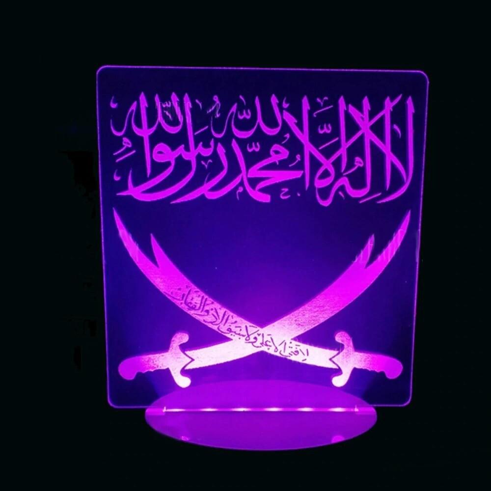 Arabic Double Knives - 3D Night Light Table Lamp