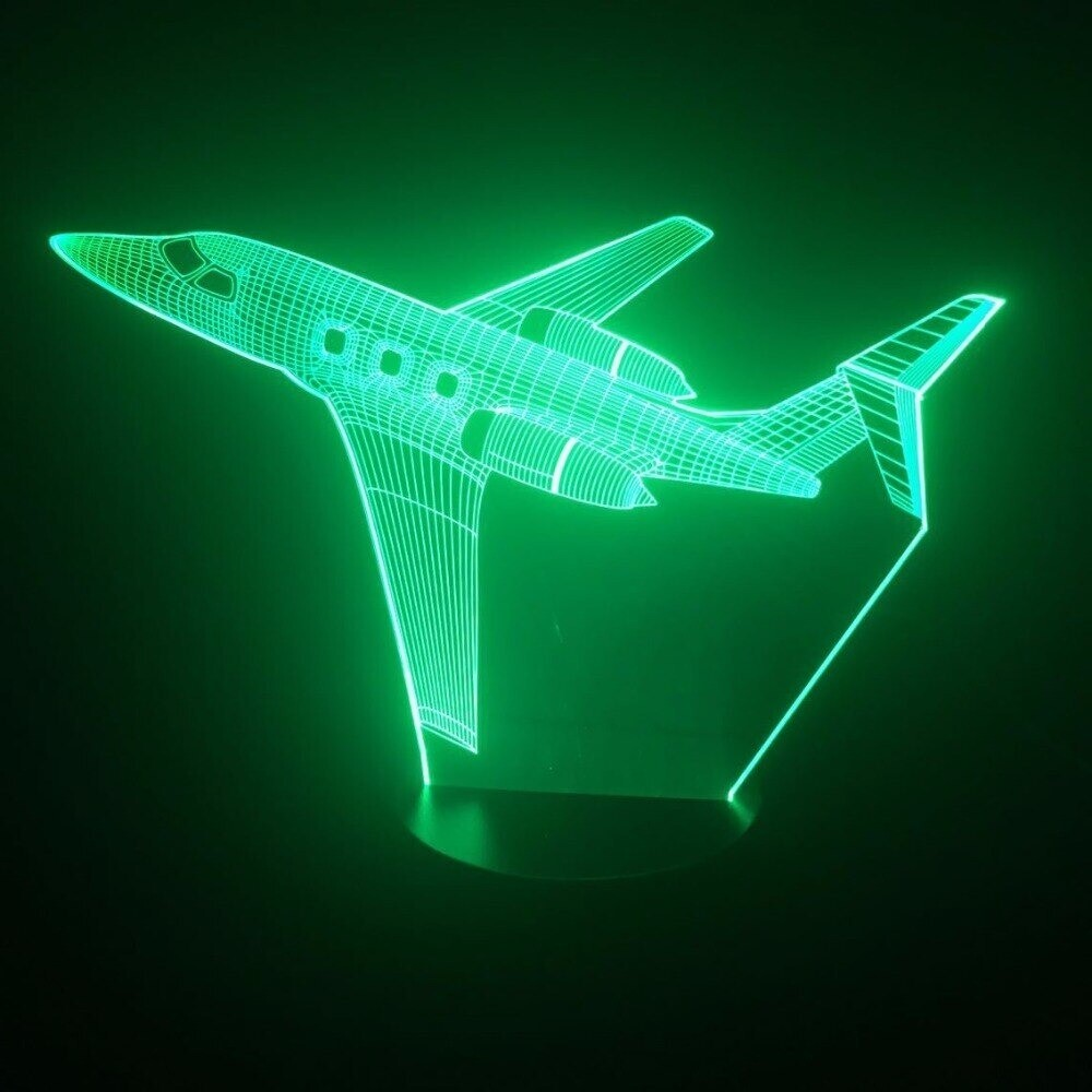 Jet Airplane - 3D Night Light Table Lamp
