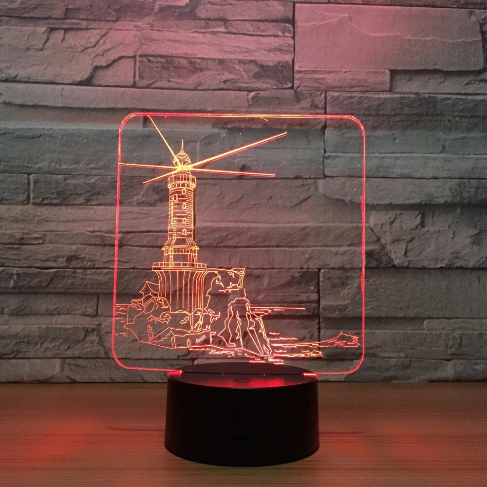 Lighthouse - 3D Night Light Table Lamp