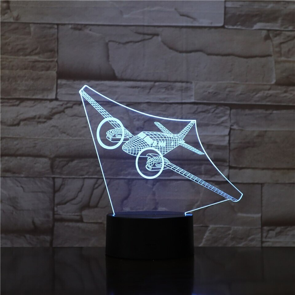 Rotary Screw Aircrafts - 3D Night Light Table Lamp