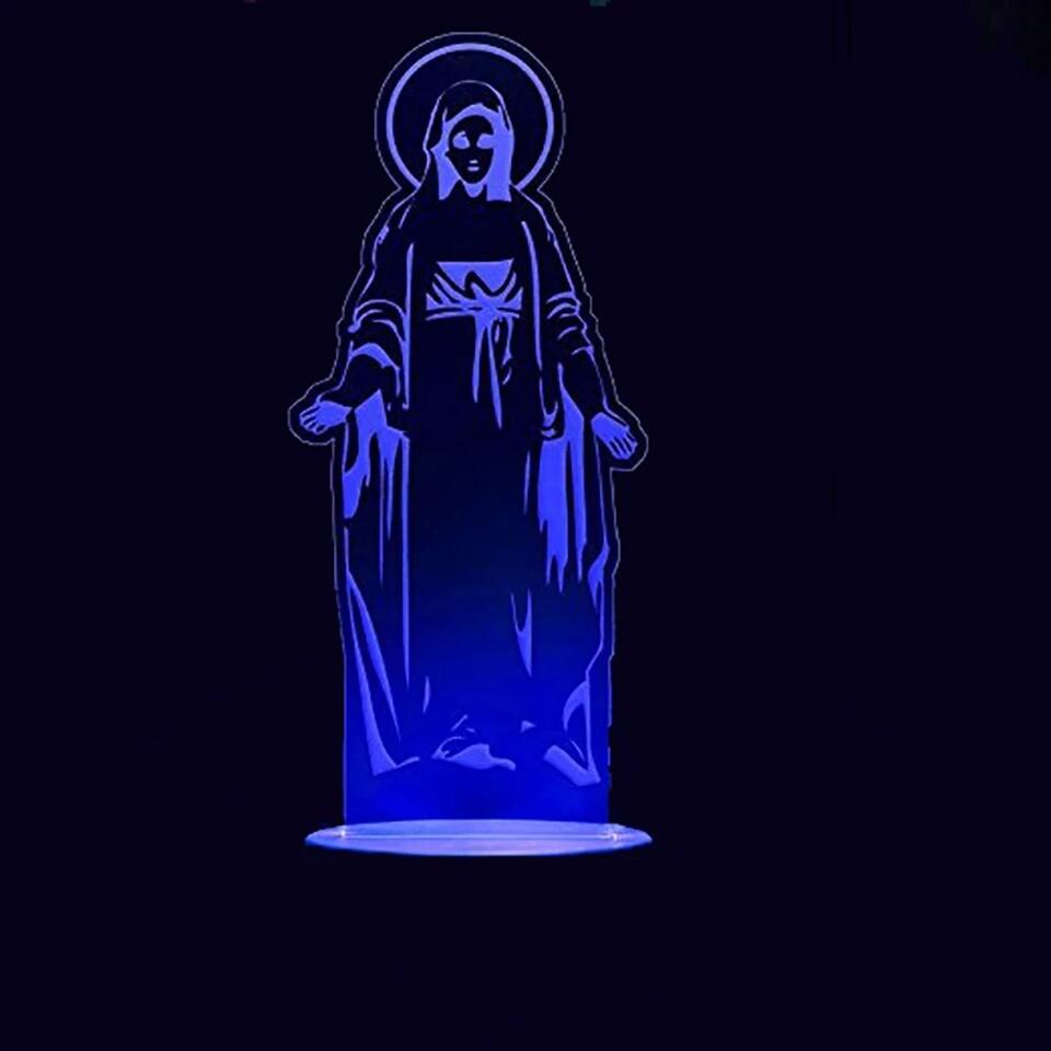 Virgin Mary Modelling - 3D Night Light Table Lamp